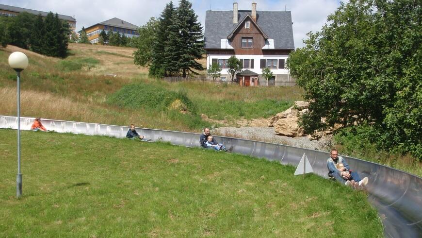 Letní bobová dráha v Kurort Oberwiesenthal